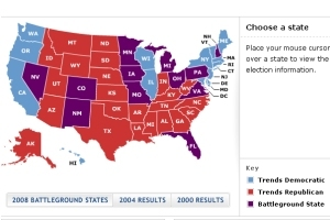 MyAmericabe - Us map by political party